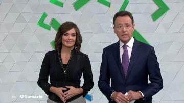 Mónica Carrillo y Matías Prats en Antena 3 Noticias Fin de Semana