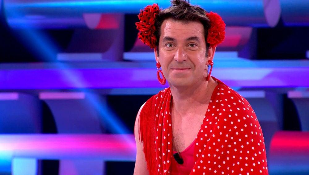 """Arturo Valls desata las carcajadas en '¡Ahora Caigo!: """"Soy la Lina Morgan de El Rocío"""""""