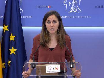 sLa portavoz adjunta de Unidos Podemos en el Congreso, Ione Belarra