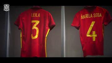 Las jugadoras de la Selección Absoluta española llevarán sus nombres en las camisetas