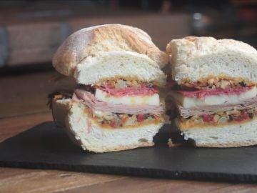 El sandwich Muffuleta: qué maravilla.