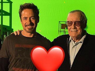 Robert Downey Jr. y Stan Lee