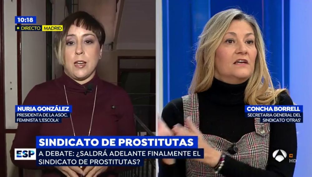 """La Asociación feminista 'L'Escola' acusa a la secretaria del sindicato 'Otras' de un delito de encubrimiento: """"Has reconocido públicamente un delito de proxenetismo y tienes que denunciarlo"""""""