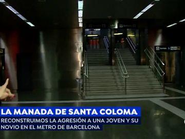 La reconstrucción de la espeluznante agresión de 'la manada de Santa Coloma' a una joven y su pareja en el metro
