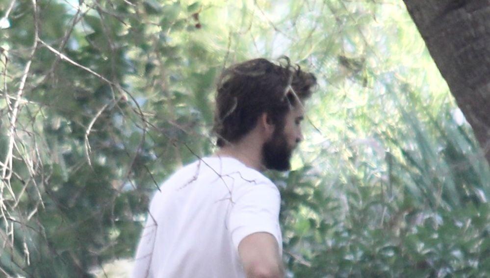 Liam Hemsworth examina daños en casa de Miley Cyrus