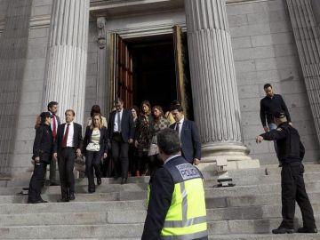 El Congreso interrumpe el pleno por un simulacro de emergencia