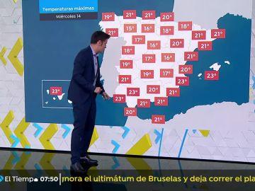 Se esperan temperaturas en aumento en Galicia y en descenso en el sureste peninsular