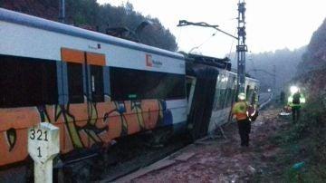El tren que ha descarrilado
