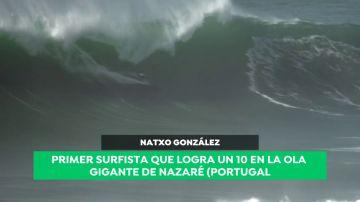 Natxo González hace historia: primer surfista que logra un '10' en la ola gigante de Nazaré
