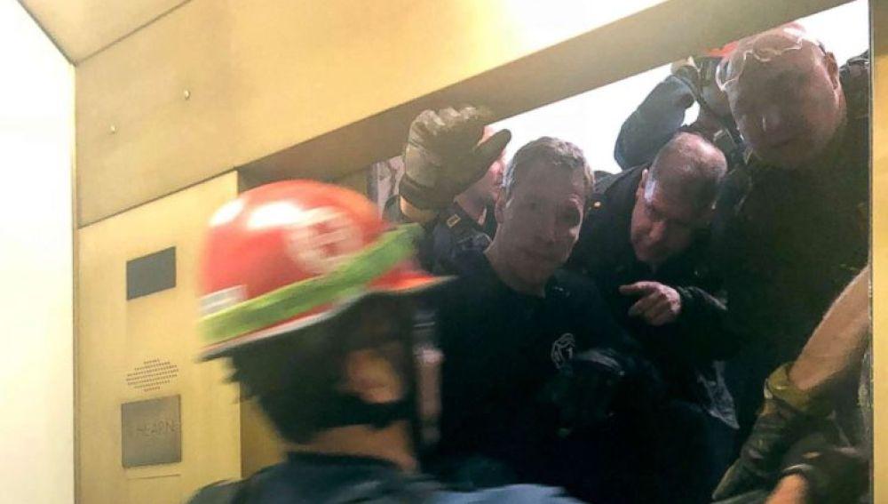 Imagen del rescate de los atrapados