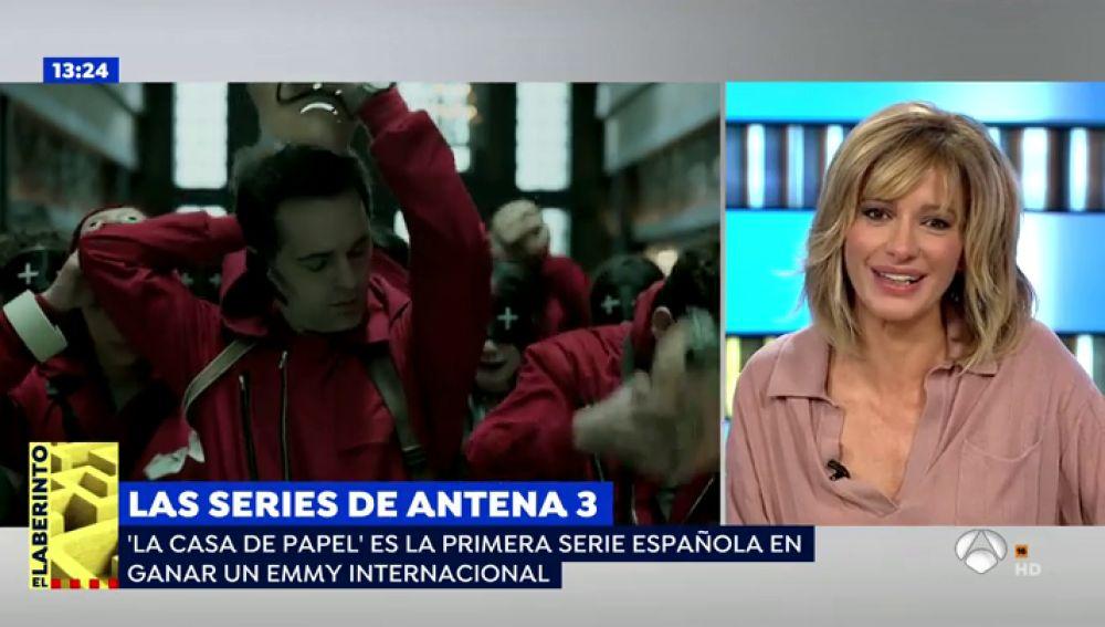 """Susanna Griso, ilusionada con el Emmy Internacional de 'La casa de papel' e indignada: """"25 años en televisión y me conocen por hacer un cameo en la serie"""""""