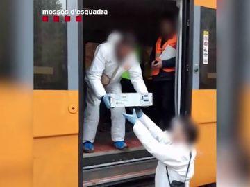 Los Mossos recuperan la caja negra del tren de cercanías accidentado