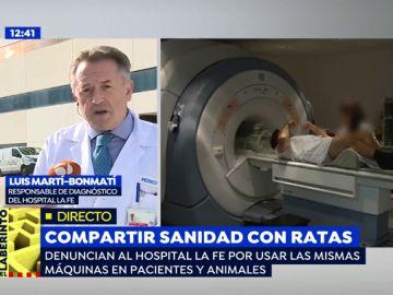 """El Hospital La Fe reconoce utilizar las mismas máquinas para animales y humanos: """"Se usan en días distintos y tras las labores de limpieza adecuadas"""""""