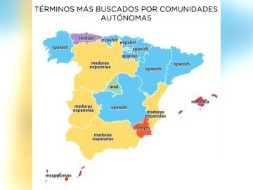 El mapa de porno en España: qué se busca, desde dónde y cuánto tiempo se consume
