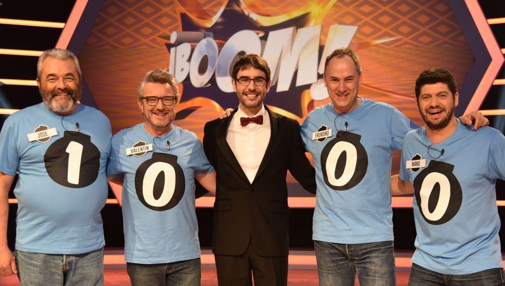 Celebra con nosotros los 1.000 programas de '¡Boom!', este martes en Antena 3