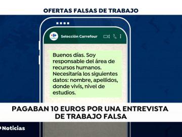Desarticulado en Barcelona un grupo de estafadores que cobraban por hacer entrevistas de trabajo falsas