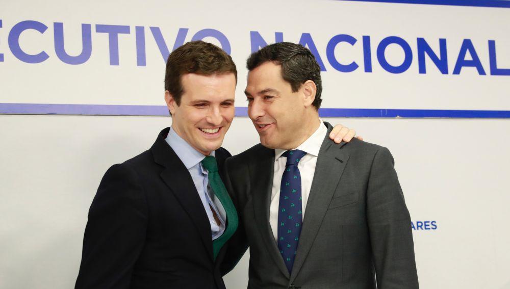Pablo Casado y Juanma Moreno
