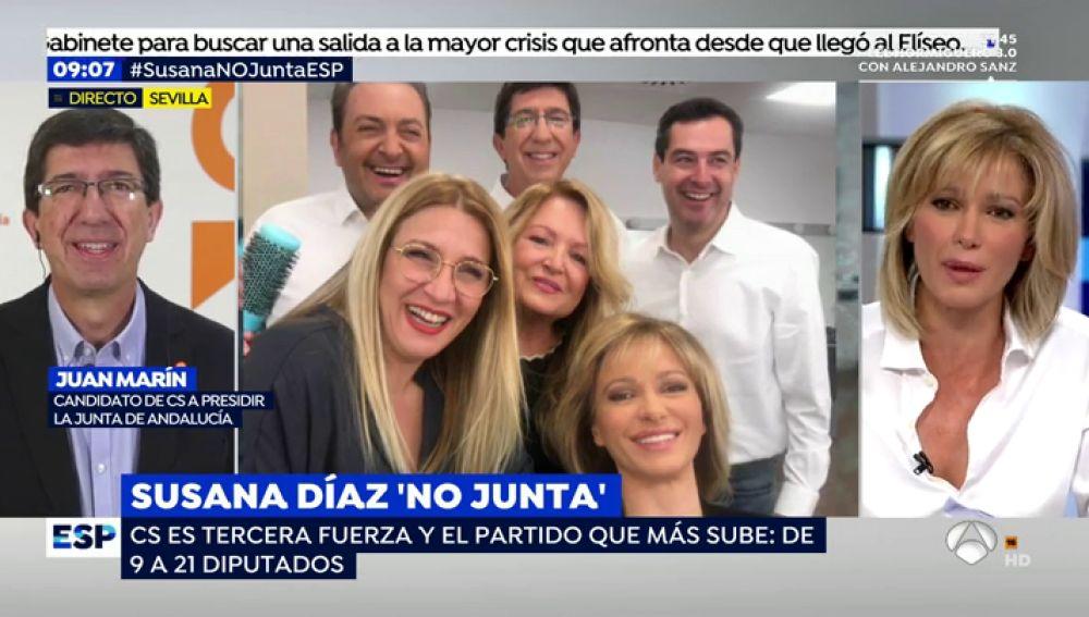 Foto de los candidatos de PP y Ciudadanos en Andalucía.