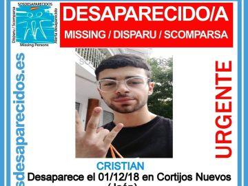 Joven desaparecido en Cortijos Nuevos (Jaén)