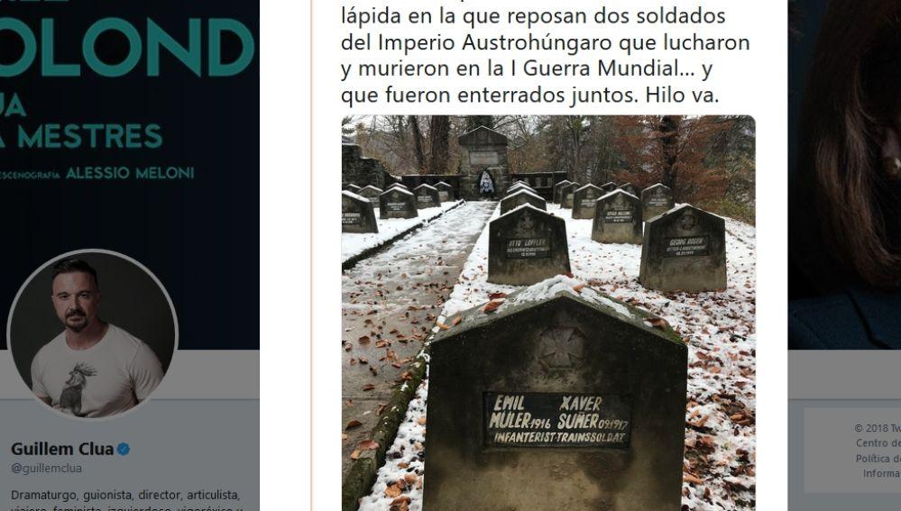 Dos soldados fueron enterrados juntos