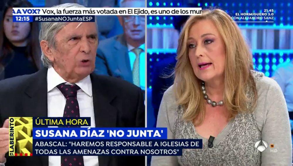 Elisa Beni, en un acalorado debate con Roberto Centeno.