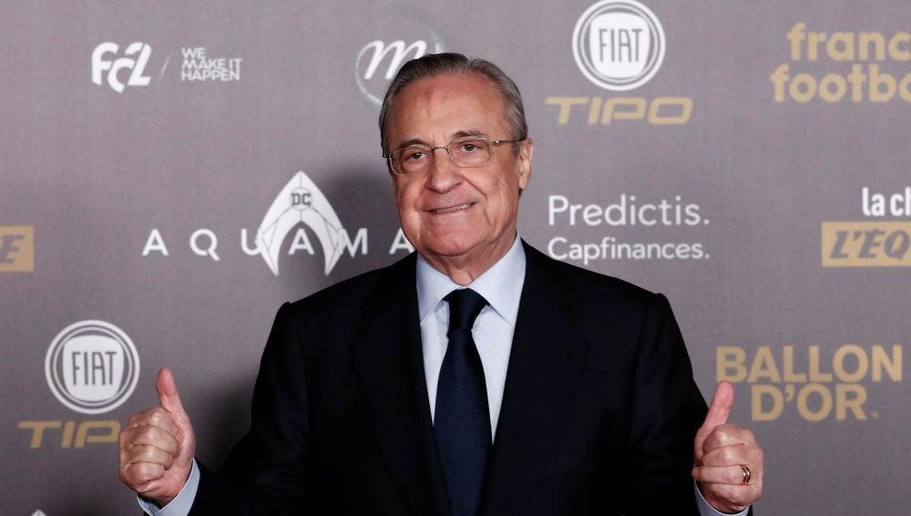 Florentino Pérez en la gala del Balón de Oro