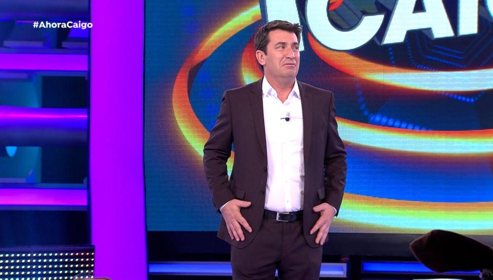 Arturo Valls, víctima de una broma del público de '¡Ahora Caigo!'