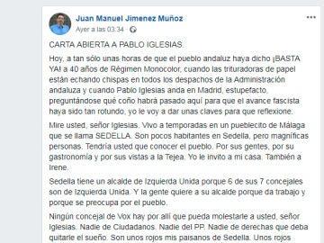 Carta abierta a Pablo Iglesias para explicarle el avance de Vox en Andalucía