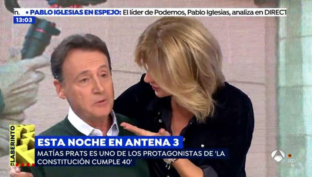 Susanna Griso con Matías Prats en el plató de 'Espejo Público'
