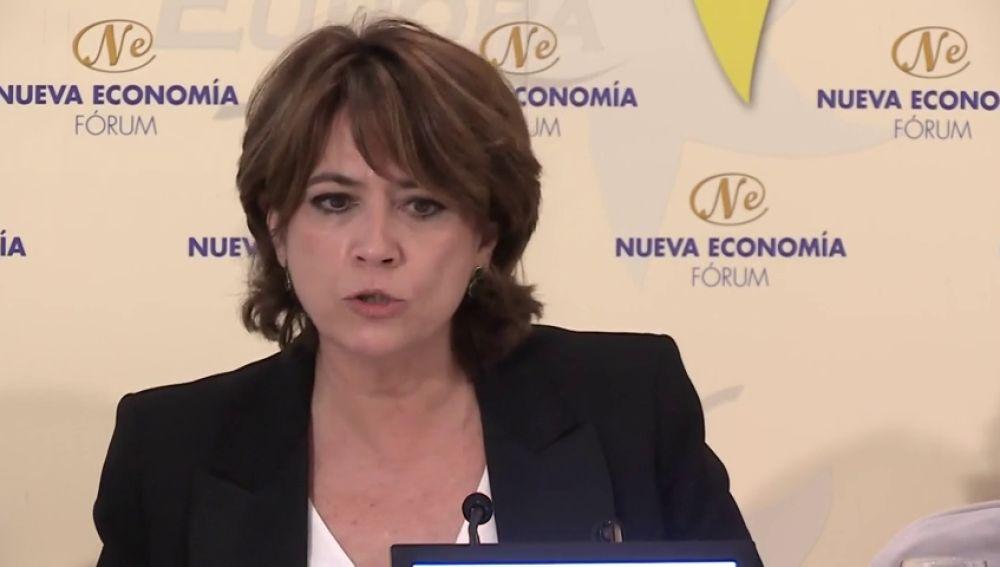 Vox no es un partido constitucional para la ministra de Justicia