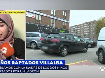 """La madre de los niños raptados por un ladrón, contenta por volver a abrazar a sus hijos: """"Pude alcanzar la puerta, pero no conseguí frenar el coche"""""""