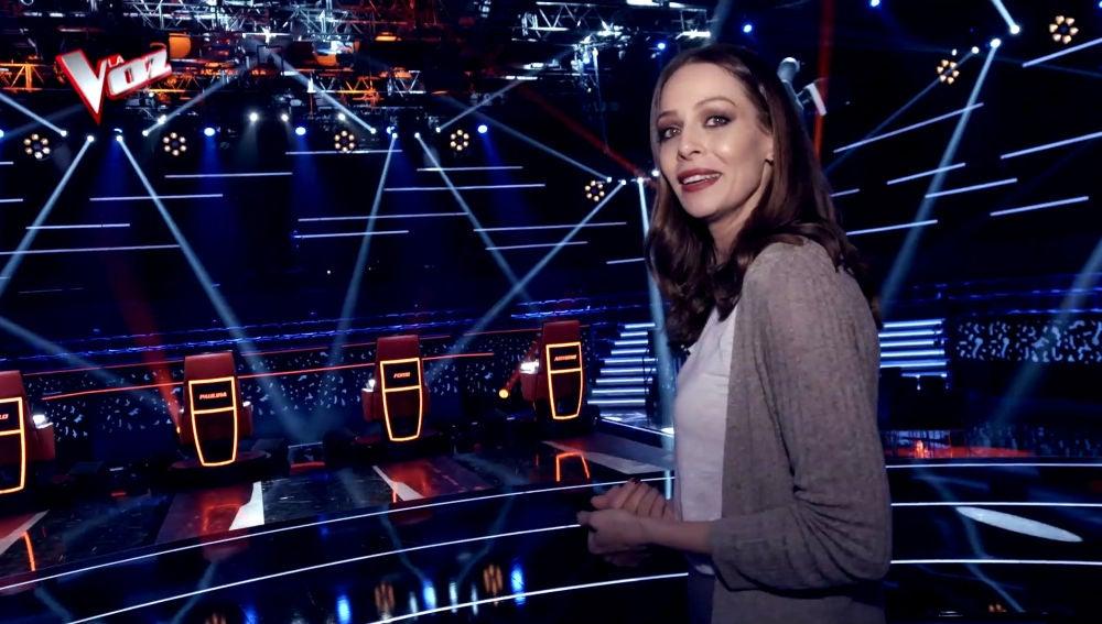 VÍDEO: Eva González nos hace una visita guiada por los lugares donde se graba 'La Voz' en Antena 3