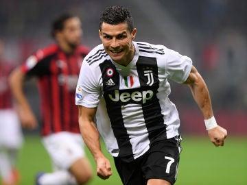 Cristiano Ronaldo celebra un gol contra el Milan