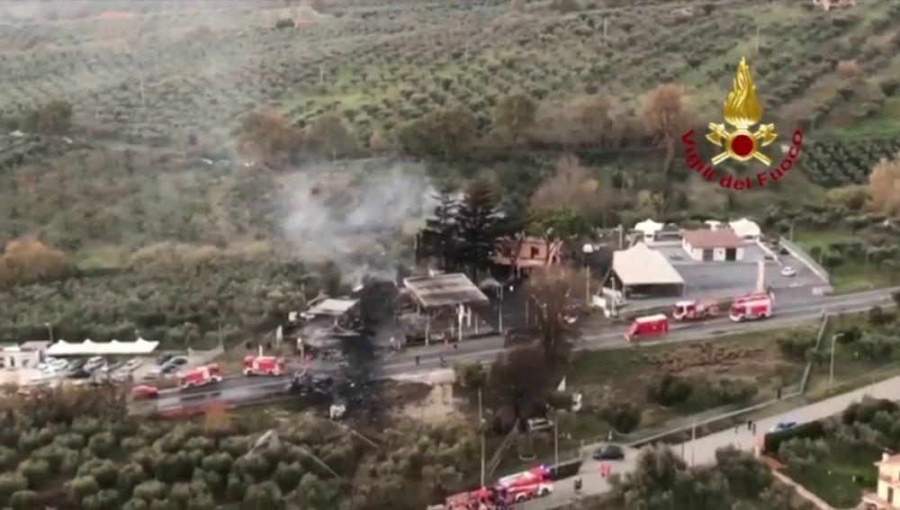 Al menos dos muertos y 15 heridos tras una explosión en una gasolinera en la región italiana de Lacio