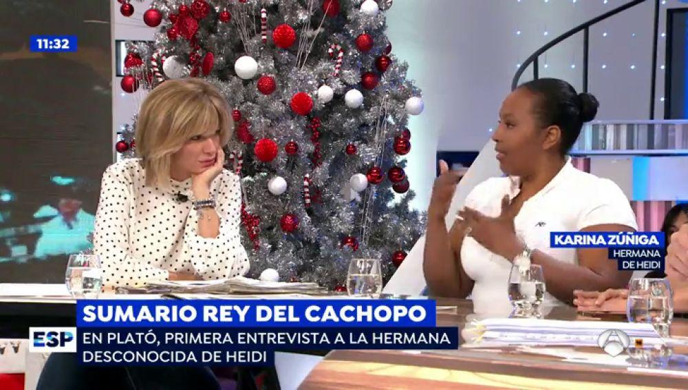 La hermana de Heidi Paz habla en 'Espejo Público'