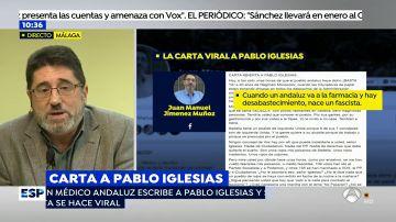 El médico andaluz que ha escrito una carta abierta a Pablo Iglesias.