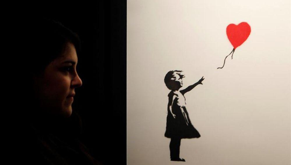 'Niña con globo', una de las más de 70 obras de Bansky