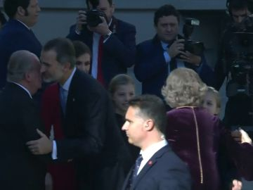 Por primera vez los dos reyes asisten a un acto en el Congreso de los Diputados