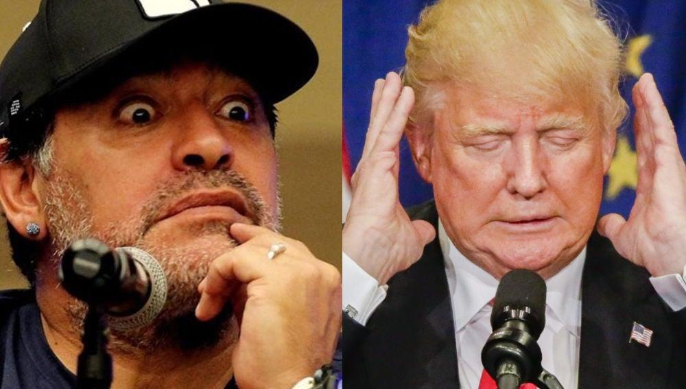 Maradona y Donald Trump
