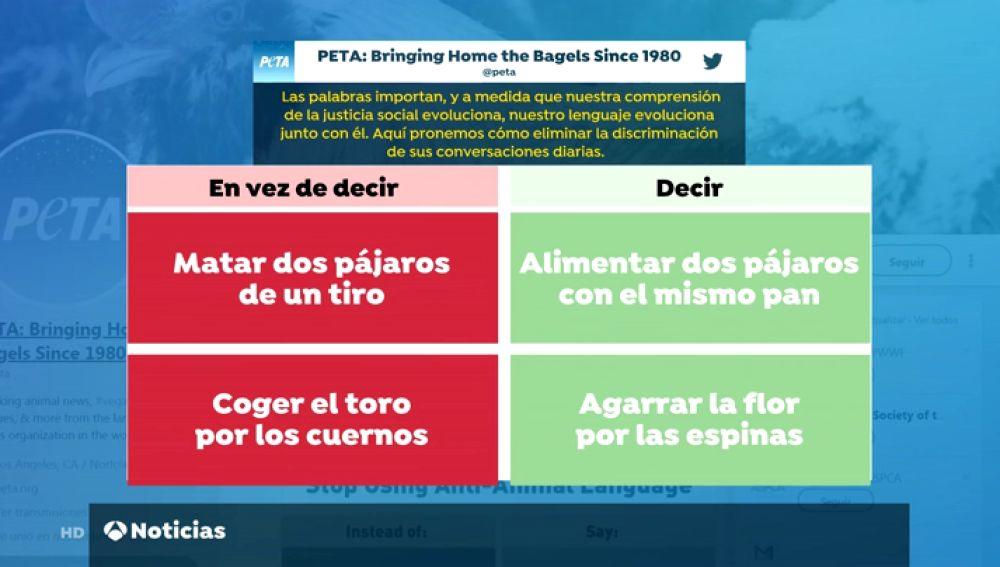 """PETA exige modificar los refranes """"ofensivos"""" referidos a los animales porque """"vulneran sus derechos"""""""