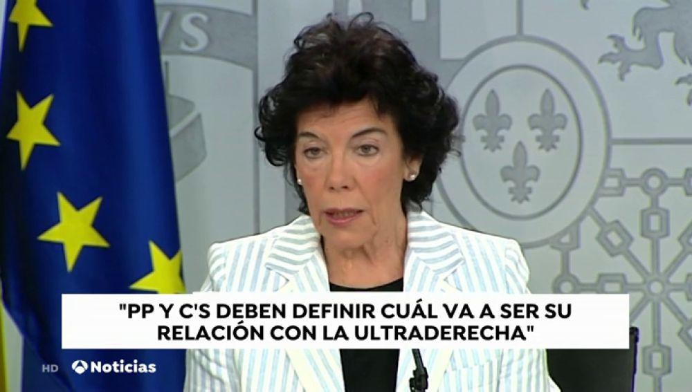 La portavoz del Gobierno considera que España es el último país europeo en sufrir el impacto de la extrema derecha