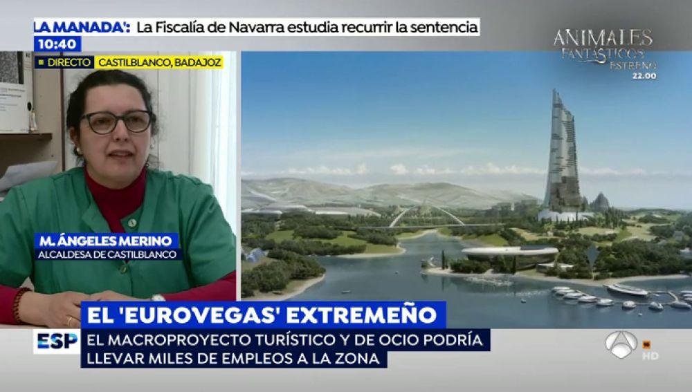 """Los vecinos de Castilblanco, ilusionados con el macrocomplejo Extremeño: """"No nos gusta el nombre de 'Eurovegas' porque es mucho más que eso"""""""