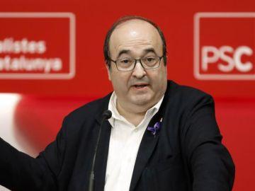 Miquel Iceta durante un acto del PSC