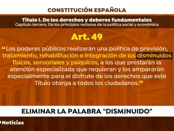 """El Gobierno elimina """"disminuido"""" de Constitución por ser """"obsoleto e injusto"""""""