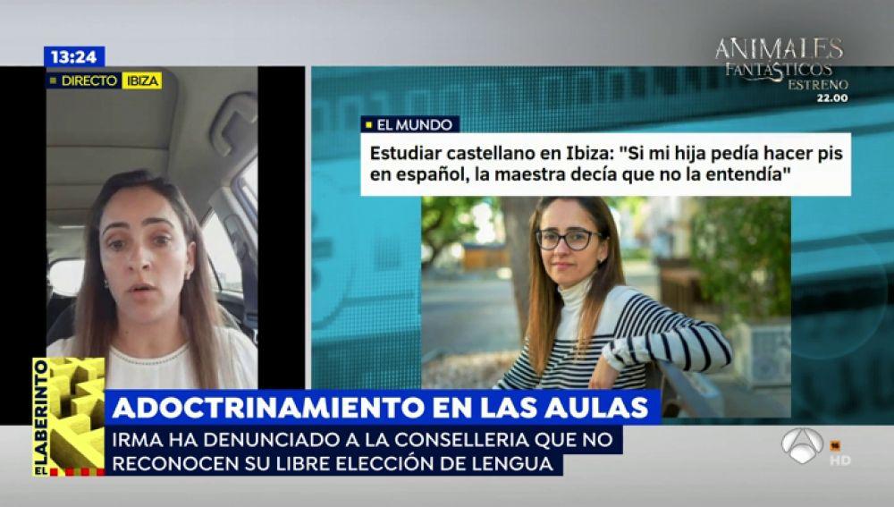 """Una madre de Ibiza denuncia que sus hijos no reciben clases en castellano: """"Mis hijos aprendían más castellano en Inglaterra que en su propio colegio"""""""