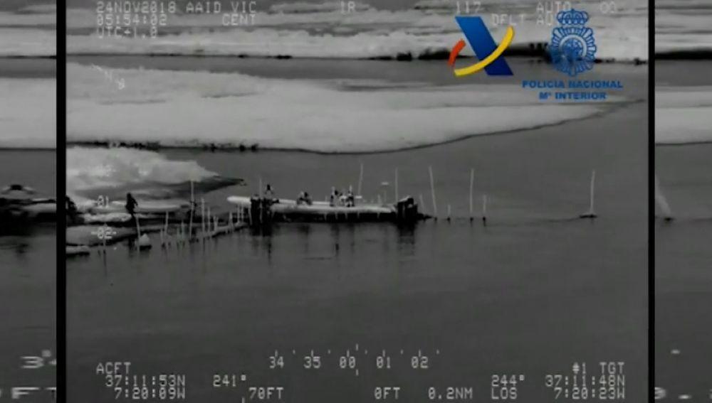 Incautadas 2,7 toneladas de resina de hachís en la costa de Ayamonte