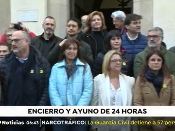 Consellers y diputados soberanistas comienzan un ayuno solidario de 24 horas