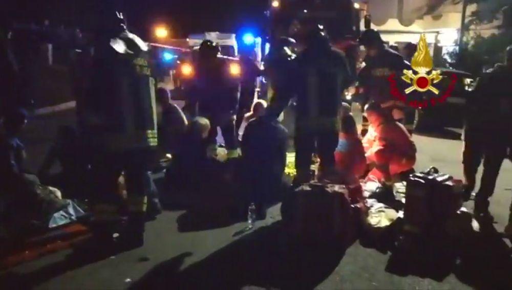Seis muertos y más de 100 heridos tras estampida en un concierto en Italia