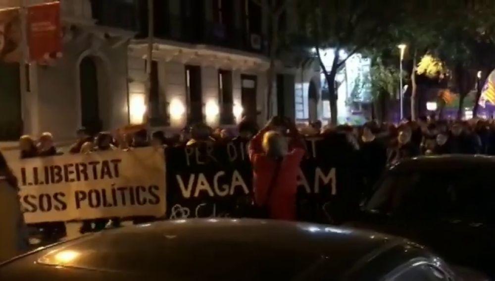 Los CDR cortan la Diagonal de Barcelona para protestar contra Interior