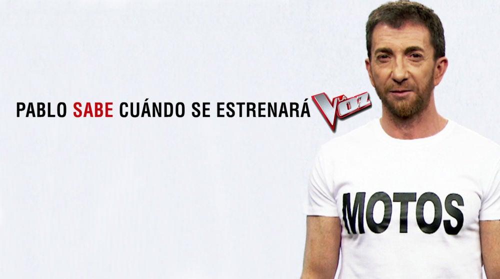 Pablo Motos sabe cuándo se estrenará 'La Voz' y lo desvelará muy pronto en 'El Hormiguero 3.0'0
